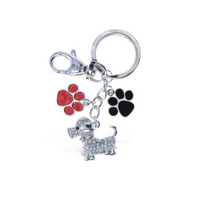 Puzzled Dog Metal Sparkling Charm