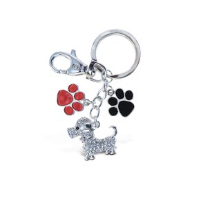 Puzzled Dog Metal Sparkling Charm - S