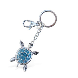 Puzzled Sparkling Charms Blue Sea Turtle