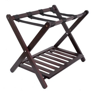 Birdrock Home Bamboo Luggage Rack