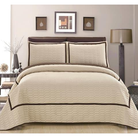 Chic Home Marla Beige Quilt 3-Piece Set