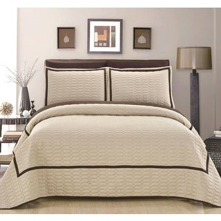 Chic Home Marla Beige Quilt 3-Piece Set