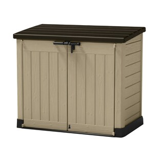 Keter Store-It-Out Max Beige, Brown Resin Outdoor Horizontal Garden Storage Shed
