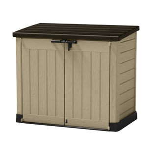 Keter Store It Out Max Beige, Brown Resin Outdoor Horizontal Garden Storage  Shed
