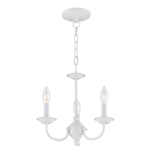 Livex Lighting Home Basics 3 Light White Mini Chandelier