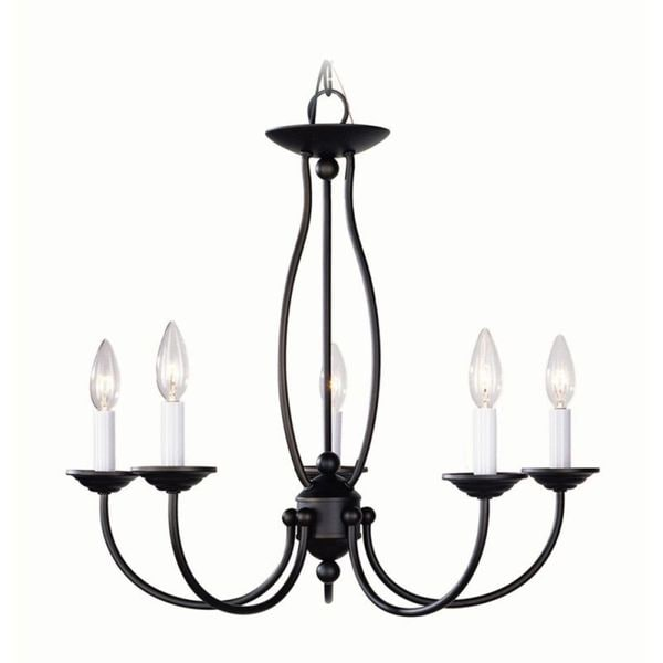 Livex Lighting Home Basics 5 Light Bronze Chandelier
