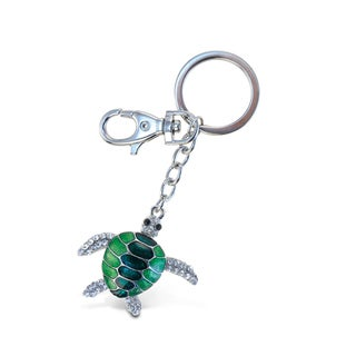 Puzzled Green Sea-Turtle 1 Sparkling Charms