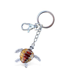 Puzzled Red Sea Turtle Sparkling Charms