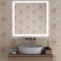 Vanity Art 28-Inch LED Lighted Illuminated Bathroom Vanity Wall Mirror with Touch Sensor, Vertical  Rectangle White Mirrors