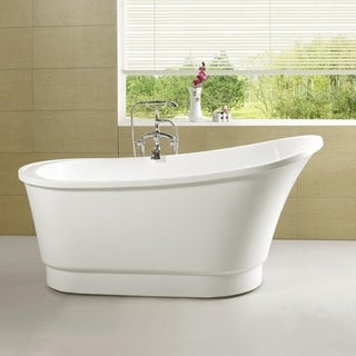 Vanity Art 67-inch Acrylic Freestanding Soaking Bathtub