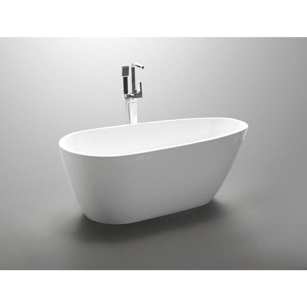freestanding soaking tub reviews vanity art inch acrylic bathtub dimensions with seat