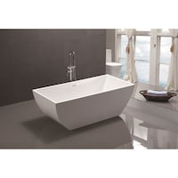 60 inch freestanding soaking tub. Vanity Art 59 Inch Freestanding Acrylic Soaking Bathtub Streamline White 60 Tub With Internal
