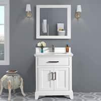 Vanity Art 30-inch Bathroom Vanity Set with Phoenix Stone Top