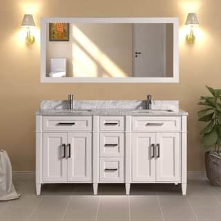 60 inch double sink vanity granite top. Vanity Art 60 inch Double Sink Bathroom Set With Carrara Marble Top Size Vanities 51 Inches