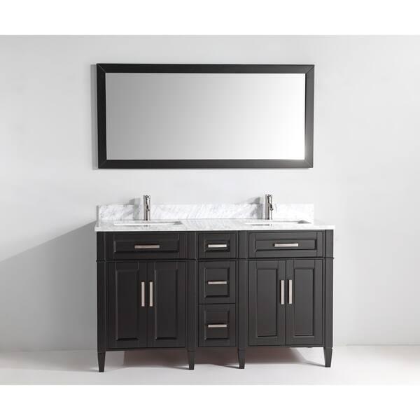 Vanity Art 60 Inch Double Sink Bathroom Vanity Set Carrara Marble Stone Top Soft Closing Doors Undermount Sink With Free Mirror Overstock 12364442