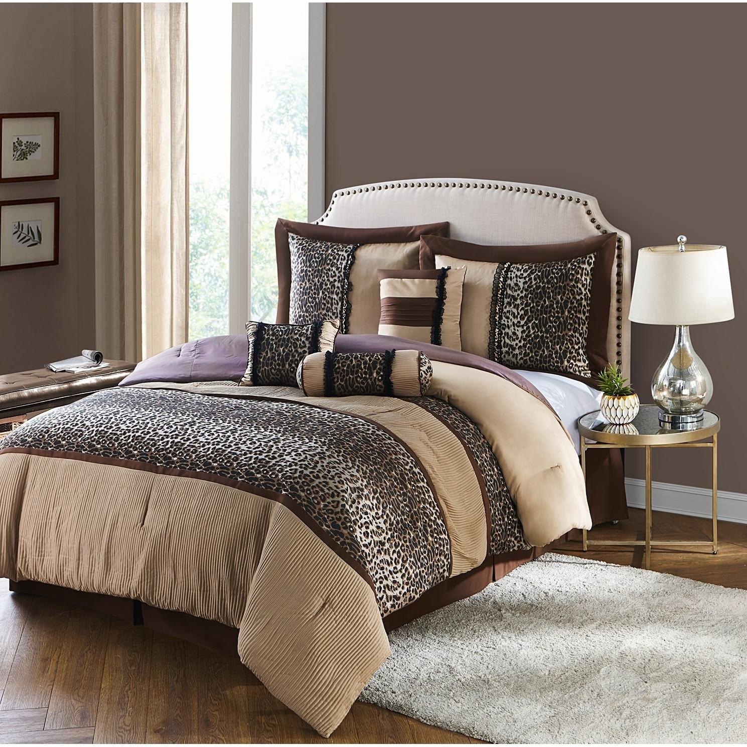 Nanshing Sadie 7-piece Comforter Set (Full), Beige (Polye...