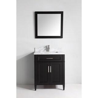 Vanity Art 30-inch Single Sink Bathroom Vanity Set with Carrara Marble Top (3 options available)