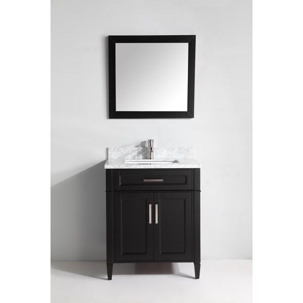 30 Bathroom Vanity With Marble Top vanity art 30-inch single sink bathroom vanity set with carrara