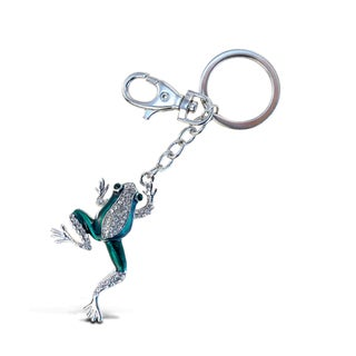 Puzzled Metal/Crystal Sparkling Frog Charm Keychain