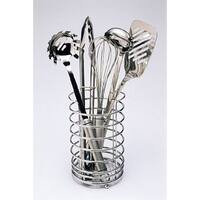YBM Home Chrome Utensil Caddy Rack/ Kitchen Holder/ Storage Organizer