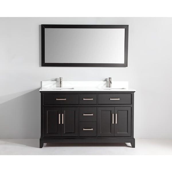Shop Vanity Art 60 Inch Bathroom Vanity Set With Phoenix Stone Top Free Shipping Today