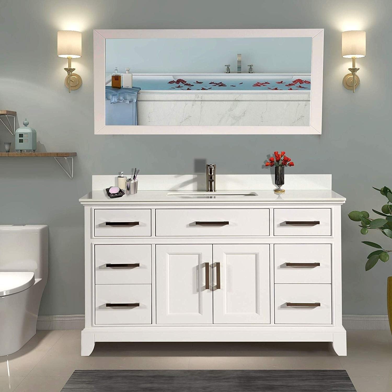 Details About Vanity Art 60 Inch Bathroom Vanity Set With Phoenix Stone Top
