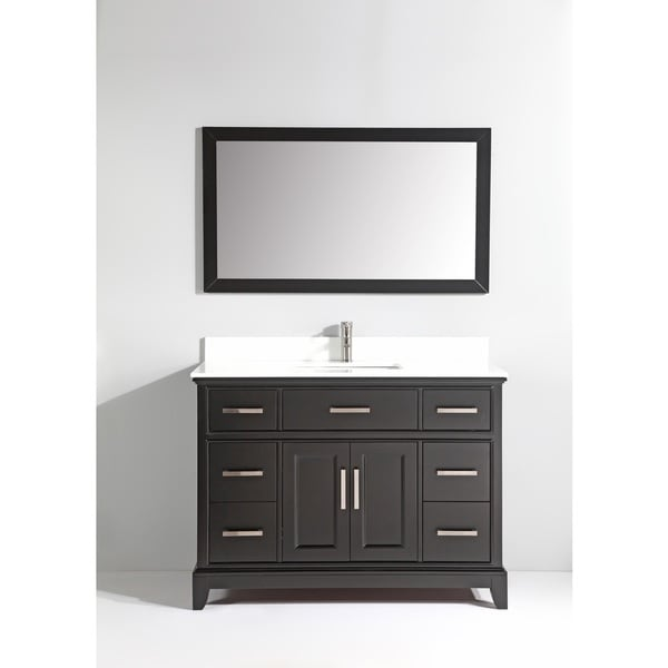 vanity art white phoenix stone top 48 inch single sink bathroom vanity