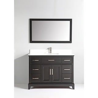 Shop Design Element Stanton 48 Inch Espresso Wood Bathroom