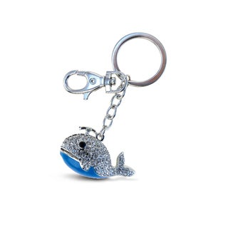 Puzzled Sparkling Blue Whale Charms