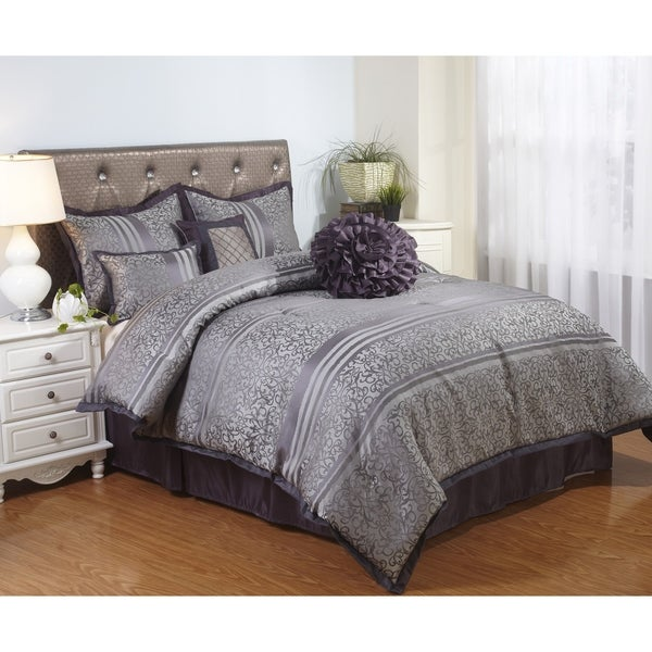 nanshing paige 7 piece comforter set free shipping today overstock 19190662. Black Bedroom Furniture Sets. Home Design Ideas
