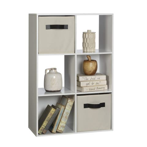 OneSpace White 6-Cube Organizer