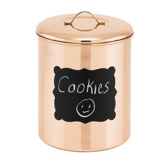 Old Dutch 'Chalkboard' Black/Brown Copper 4-quart Decor Cookie Jar