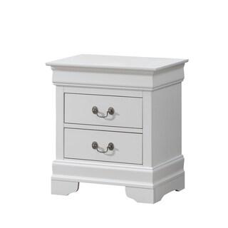 White 2-drawer Nightstand