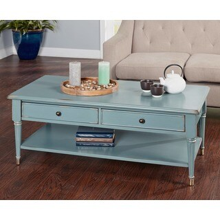 Simple Living Emilia Antique Blue Coffee Table