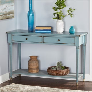 Simple Living Emilia Blue Sofa Table