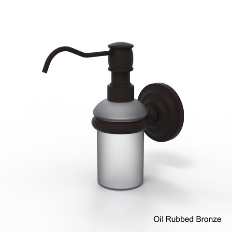 Allied Brass Clear/Bronze Wall-mounted Soap Dispenser - 5 oz