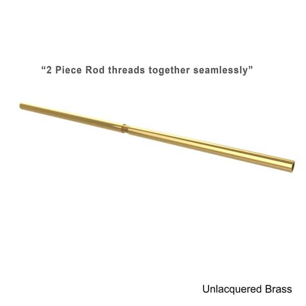 Beau Allied Brass 72 Inch Shower Curtain Rod