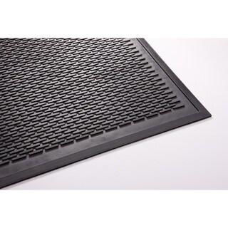 Clean Step Black Rubber Scraper Mat