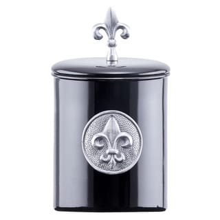 Old Dutch Black 4-quart 'Fleur De Lis' Cookie Jar with Fresh Seal Cover