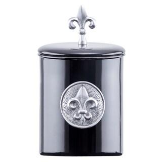 Old Dutch Black 4-quart 'Fleur De Lis' Cookie Jar with Fresh Seal Cover