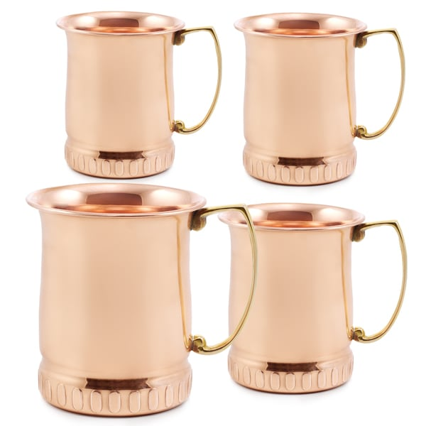 17 oz. Solid Copper 'Sui Generis' Moscow Mule Mugs (Set of 4)