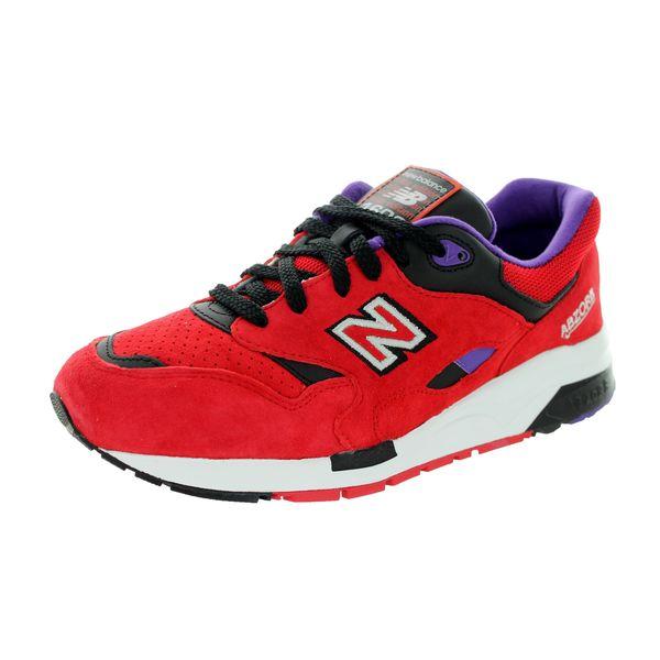 8b3b605451f72 New Balance Men's CM1600 Classics Red/Black/Purple Running Shoes