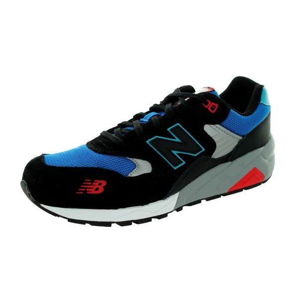 big sale 65ebc 6db48 Shop New Balance Men's 580 Lifestyle Black, Blue, & Red ...