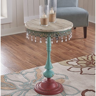 Powell Multi-finish Juniper, Iron Eclectic Side Table