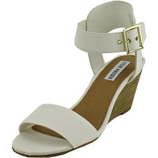 Steve Madden Women's Natiive White Polyurethane Dress Shoes