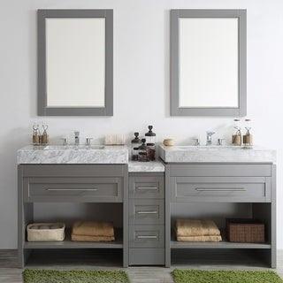 Double Vanity Bathroom Vanity size double vanities bathroom vanities & vanity cabinets - shop