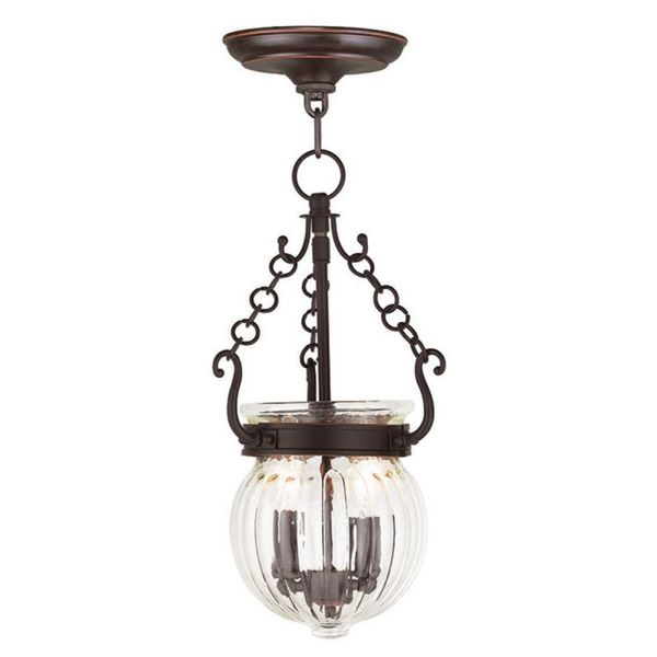 Livex Lighting Everett 2 Light Olde Bronze Pendant