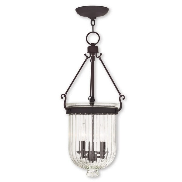 Livex Lighting Coventry 3 Light Bronze Pendant