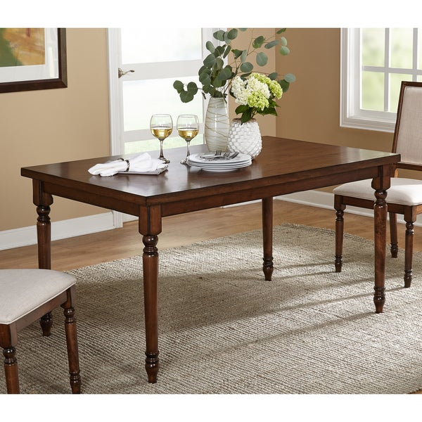 simple living venus vintage oak rectangle dining table free shipping