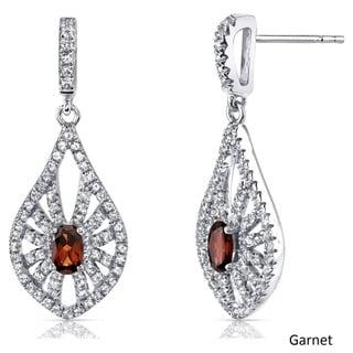 Oravo 14k White Chanedelier Gemstone Earrings